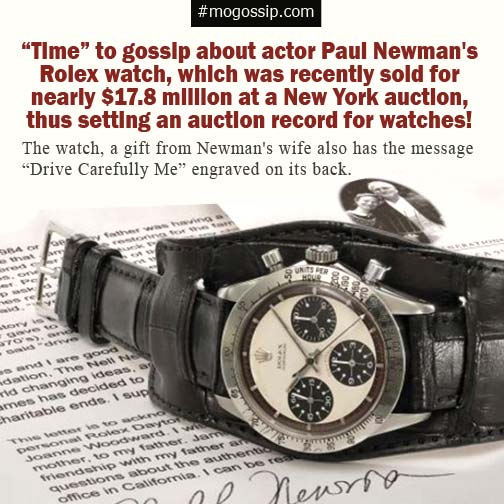 Paul Newman's Rolex watch sells for record