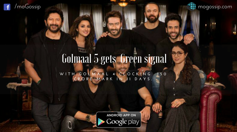 Golmaal 5 gets  Green signal with Golmaa