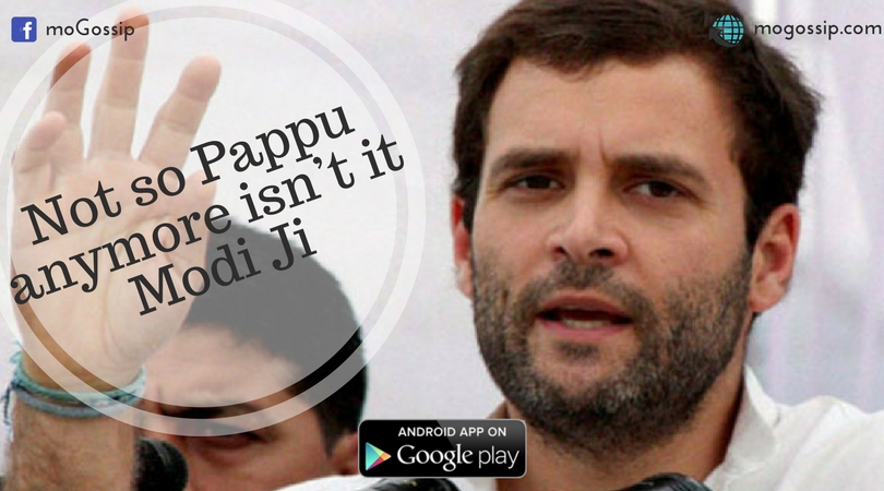 Is rahul Gandhi the real Pappu or us the Indians? Only Mr. PM NaMo knows.