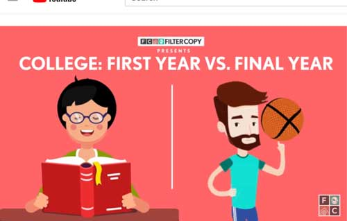 FilterCopy | College - First Year vs. Final Y