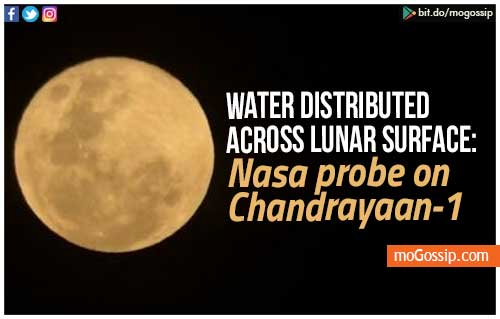 Water distributed across lunar surface