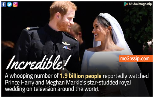 1.9 billion people watched Prince Harry and Meghan Markle's royal wedding