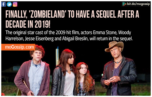 Zombieland 2 is happening 10 years after original film
