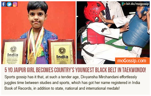 Jaipur girl is country's youngest black belt in Taekwondo