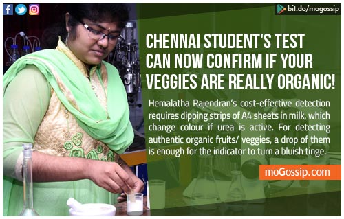 Chennai student's test can now confirm if your veggies are really organic!