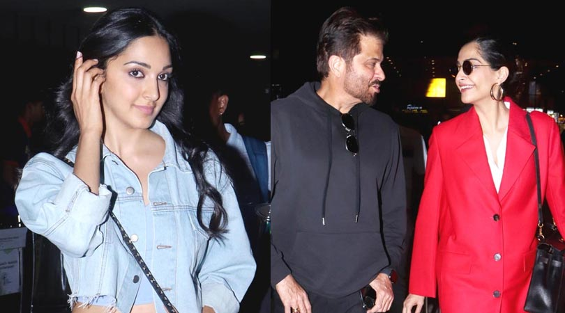 kiara advani, mouni roy & anil kapoor Spotted at Airport.