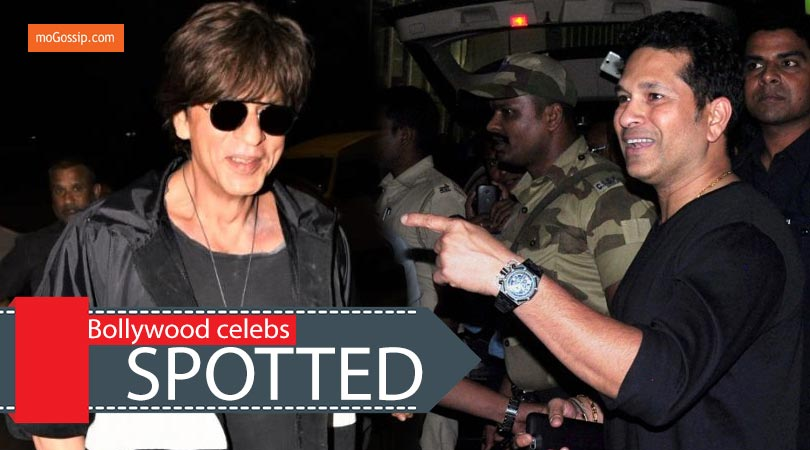 Shahrukh Khan & sachin tendulker spotted at airport
