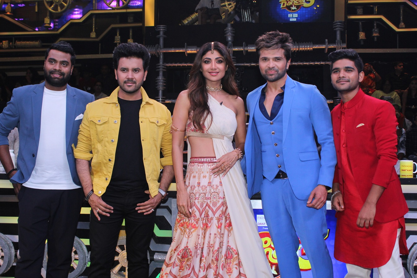 Himesh and Shilpa Shetty at Super Dancers 3 Set