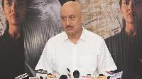 Promotional of movie one day with Anupam Kher