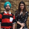 Diljit dosanjh kriti sanon promoting their upcoming film arjun patiala