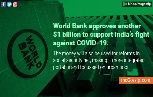 World Bank approves $1 bn to support India's fight against coronavirus !