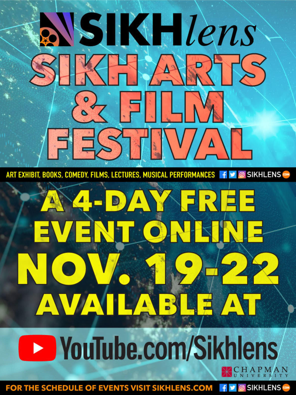 """Sikhlens - Sikh Arts & Film Festival 19th November,2020 to 22nd November, 2020"